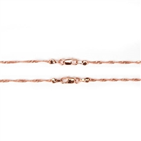 Singapore Chain - Rose Gold - 1.8mm - 18 inches