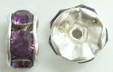 6mm Large Stone Rondell-AMETHYST/SILVER