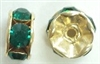 6mm Large Stone Rondell-EMERALD/GOLD