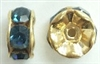 6mm Large Stone Rondell-MONTANA/GOLD