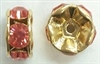 6mm Large Stone Rondell-PADPARADSCHA/GOLD