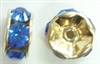 6mm Large Stone Rondell-SAPPHIRE/GOLD
