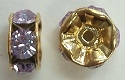 6mm Large Stone Rondell-VIOLET/GOLD