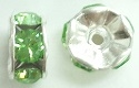 6mm Large Stone Rondell-PERIDOT/SILVER