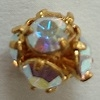 5mm Rhinestone Bead Crystal AB/Gold