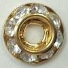Micro Schrag-8mm-CRYSTAL/GOLD