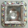 Square Schrag-20mm-CRYSTAL AB/SILVER