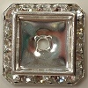 Square Schrag-20mm-CRYSTAL/SILVER