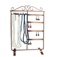 Metal Wire Scroll Earring / Necklace Display - Small