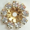 Small Flowerette without center Stone-11mm-CRYSTAL/GOLD