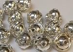 8mm One Row Smooth Bead Crystal/Silver