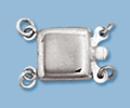 10mm Sterling Silver Plain Box Clasp - Double Strand