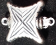 Sterling Silver Star Shaped Box Clasp - Single Strand