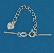 Sterling Silver Springring Floater Clasp with Heart Tail