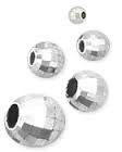 5mm Sterling Silver Round Multi-Facet Mirror Bead