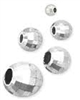 6mm Sterling Silver Round Multi-Facet Mirror Bead