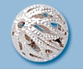 Sterling Silver Open Filigree Bead - 6mm
