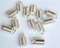 Sterling Silver Coil Ends - 2mm