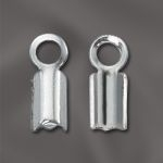 Sterling Silver Fold Over Cord Ends - 3mm