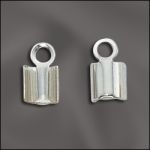 Sterling Silver Fold Over Cord Ends - 5mm