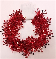 Plastic Star Garland- Red