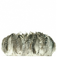 Strung Rooster Grey Chinchilla Schlappen Feathers - #2920