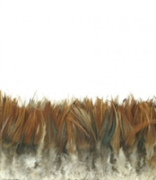 Strung Rooster Saddle Furnace Feathers - #2925