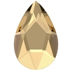 Swarovski 14 X 9mm Jewel Cut Pear- Golden Shadow