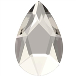 Swarovski 14 X 9mm Jewel Cut Pear- Silver Shade