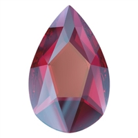 Swarovski 14 X 9mm Jewel Cut Pear- Scarlet Shimmer