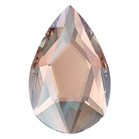 Swarovski 14 X 9mm Jewel Cut Pear- Vintage Rose Shimmer