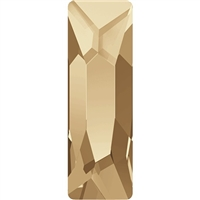 Swarovski 8 x 2.6 mm Cosmic Baguette Flatback - Golden Shadow