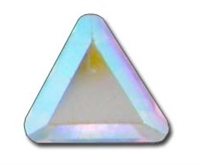 Swarovski #2711 6mm Triangle-HOTFIX Crystal AB