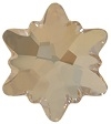 Swarovski 14mm Edelweiss Flatback- Golden Shadow