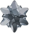 Swarovski 14mm Edelweiss Flatback- Silver Night