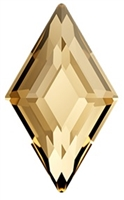 Swarovski 6.6 x 3.9mm Diamond flat back-Golden Shadow