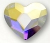 Swarovski 10mm Heart flat back- Crystal AB