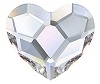 Swarovski 10mm Heart flat back- Crystal