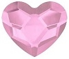 Swarovski 10mm Heart flat back- Light Rose