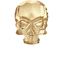 Swarovski 10 x 7mm Skull Flatback Golden Shadow