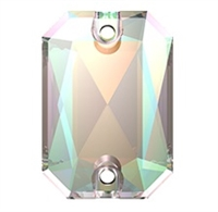 Swarovski 20 x 14mm Emerald Cut sew on- Crystal AB