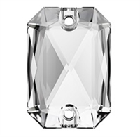 Swarovski 20 x 14mm Emerald Cut sew on- Crystal