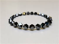 Swarovski 5.5mm Hexagon Spike Bead- Hematite