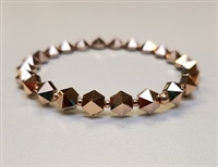 Swarovski 5.5mm Hexagon Spike Bead- Rose Gold