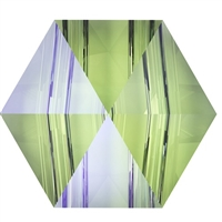 Swarovski 7.5mm Hexagon Spike Bead- Paradise Shine