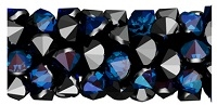 Swarovski 15mm Fine Rock Tube- Bermuda Blue