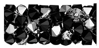 Swarovski 15mm Fine Rock Tube- Crystal Metallic Silver
