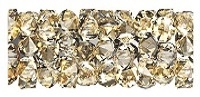 Swarovski 15mm Fine Rock Tube- Golden Shadow