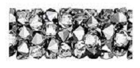 Swarovski 15mm Fine Rock Tube- Light Chrome