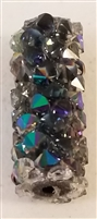 Swarovski 15mm Fine Rock Tube- Paradise Shine